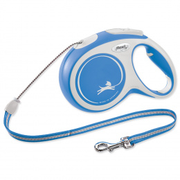 Flexi vôdzka New Comfort lanko M 8 m modrá