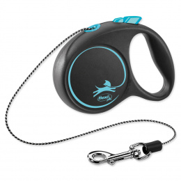 Flexi vôdzka Black Design lanko XS 3 m modré