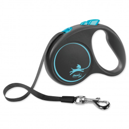 Flexi vôdzka Black Design páska S 5 m modré