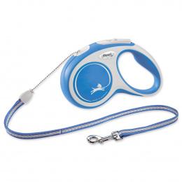 Flexi vôdzka New Comfort lanko S 5 m modrá