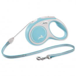 Flexi vôdzka New Comfort lanko S 5 m svetlo modrá