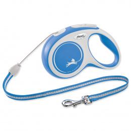 Flexi vôdzka New Comfort lanko S 8 m modrá