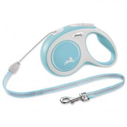 Flexi vôdzka New Comfort lanko S 8 m svetlo modrá