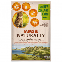 IAMS Naturally Adult Cat with New Zealand Lamb in Gravy 85g