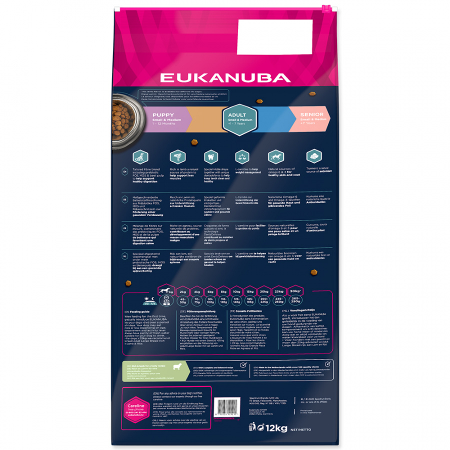 Eukanuba Adult Small & Medium Breed Lamb 12kg