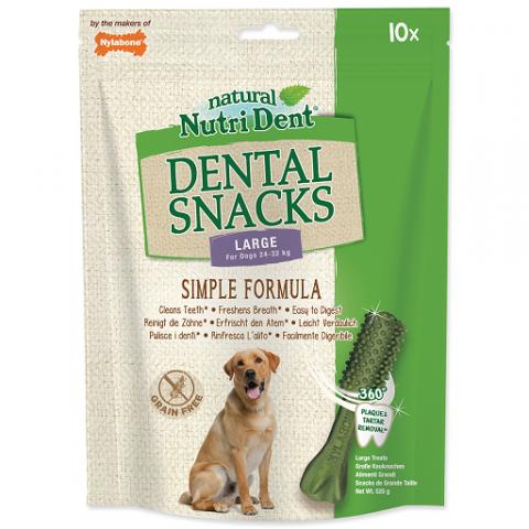 Nutri Dent pochúťka Dental Snacks Large 10 ks title=