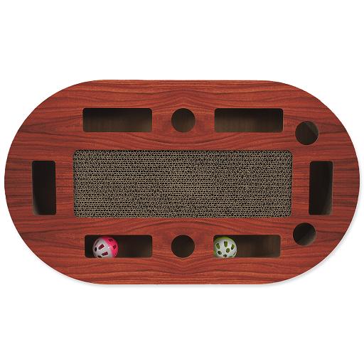 Magic Cat škrabadlo Interactive ovál kartonové vzor čerešňa
