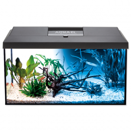 AQUAEL Akvarium set LEDDY LED DN 60x30x30cm, 54l čierne