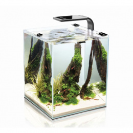 AQUAEL Akvárium set SHRIMP SMART Day & Night 25*25*30cm,19l čierne