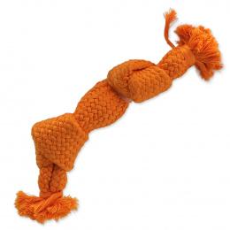 Dog Fantasy uzol pískací 2 knoty 22cm oranžový