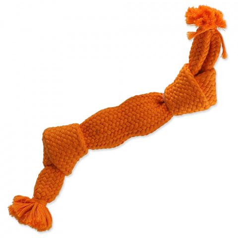 Dog Fantasy uzol pískací 2 knoty 35cm oranžový  title=