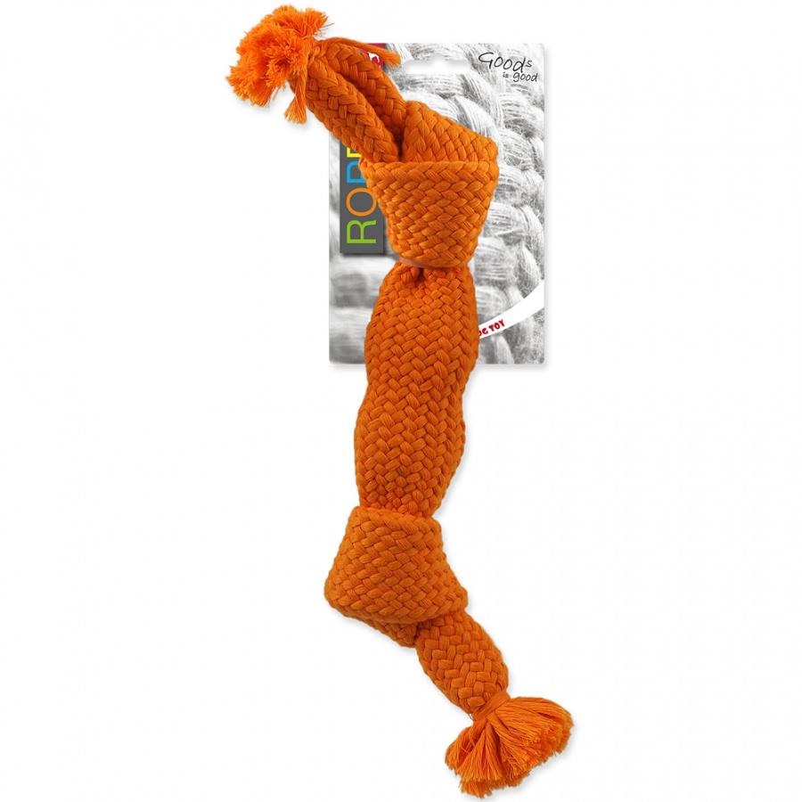 Dog Fantasy uzol pískací 2 knoty 35cm oranžový
