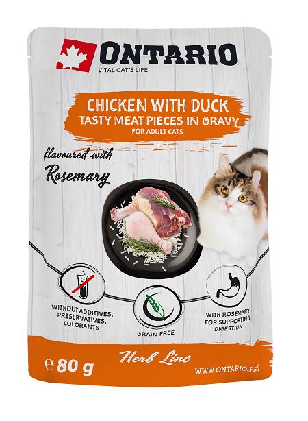 Ontario kapsička kuracie mäso s kačkou, rozmarín 80g title=