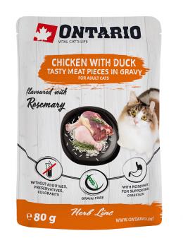 Ontario kapsička kuracie mäso s kačkou, rozmarín 80g