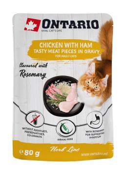 Ontario kapsička kuracie mäso so šunkou, rozmarín 80g