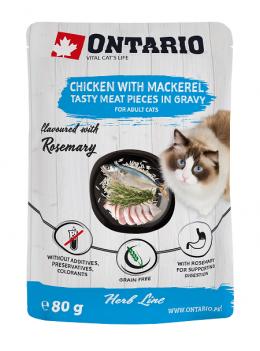 Ontario kapsička kuracie mäso s makrelou ochutené rozmarínom 80g