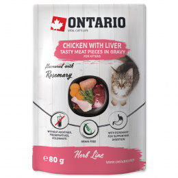 Ontario kapsička kuracie mäso s pečeňou 80g