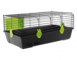 Small Animals klietka pre králiky a morčatá čierna, výbava zelená 80x46x35 cm