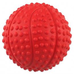 Dog Fantasy loptička basketbal s bodlinami pískacia mix farieb 5,5cm