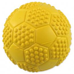 Dog Fantasy loptička futbal s bodlinami pískacia mix farieb 7cm