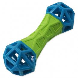 Dog Fantasy kosť s geometrickými obrazcami zeleno-modrá 18cm