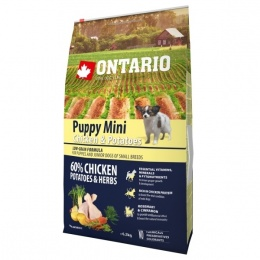 Ontario Puppy Mini Chicken & Potatoes 6,5 kg + konzerva zadarmo
