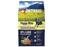 Ontario granuly Puppy Mini jahňa a ryža 6,5 kg