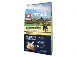 ONTARIO dog mini weight control 6,5kg morka a zemiaky