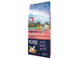 ONTARIO dog large weight control 12kg morka a zemiaky + konzerva zadarmo