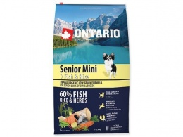 Ontario Senior Mini Fish a Rice 6,5kg + konzerva zadarmo
