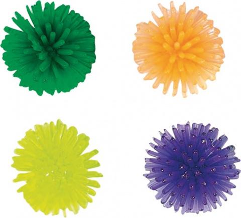 yHračka FLAMINGO míčky s bodlinami 3 cm 4ks