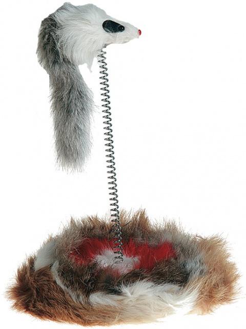 Hračka myš na pružině 14*36cm