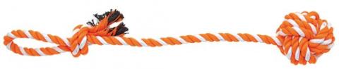 Přetahovadlo DOG FANTASY házecí oranžovo-bílé 55 cm