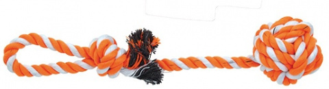 Přetahovadlo DOG FANTASY házecí oranžovo-bílé 35 cm