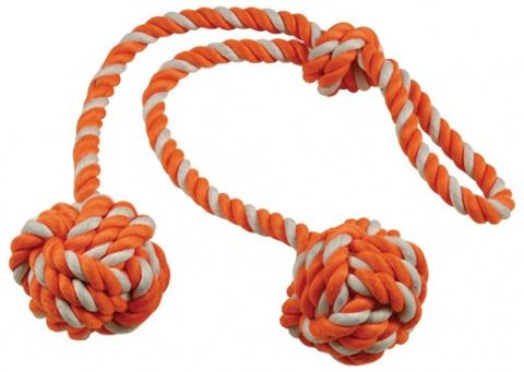 Přetahovadlo DOG FANTASY kliklak oranžovo-bílé 50 cm