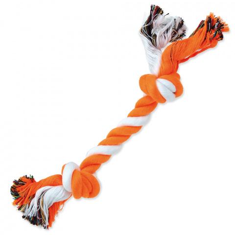Uzel Dog Fantasy bavlněný oranžovo-bílý 2 knoty 25cm title=