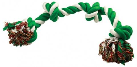 Uzel DOG FANTASY bavlněný zeleno-bílý 4 knoty 60 cm