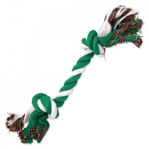 Uzel Dog Fantasy bavlněný zeleno-bílý 2 knoty 30cm title=