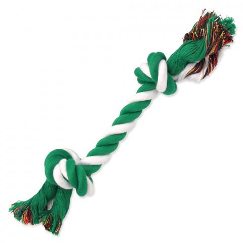 Uzel Dog Fantasy bavlněný zeleno-bílý 2 knoty 25cm title=