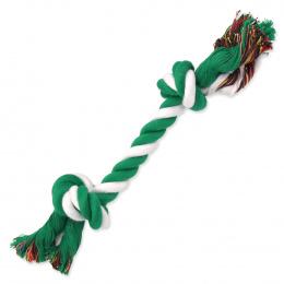 Uzel Dog Fantasy bavlněný zeleno-bílý 2 knoty 25cm