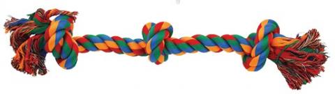 Uzel DOG FANTASY bavlněný barevný 3 knoty 50 cm