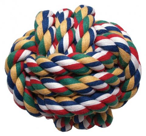 Hračka míč bavlněný barevný