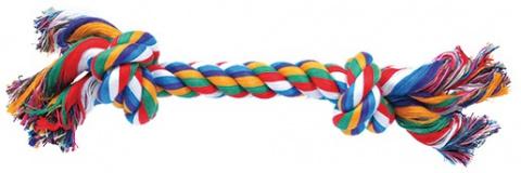 Uzel DOG FANTASY bavlněný barevný 2 uzle 30 cm