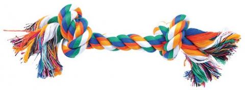 Uzel bavlněný barevný 2 uzle 25cm