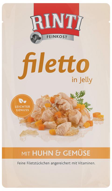Kapsička RINTI Filetto kuře + zelenina v želé 125g