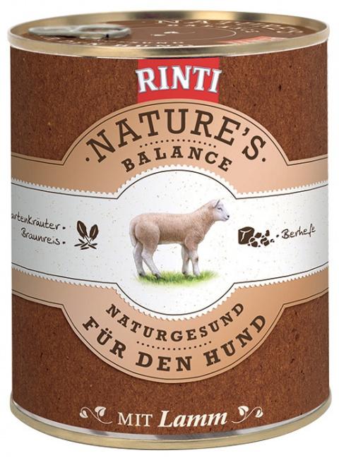 Konzerva RINTI Nature's Balance jehně + hnědá rýže + vejce 800g