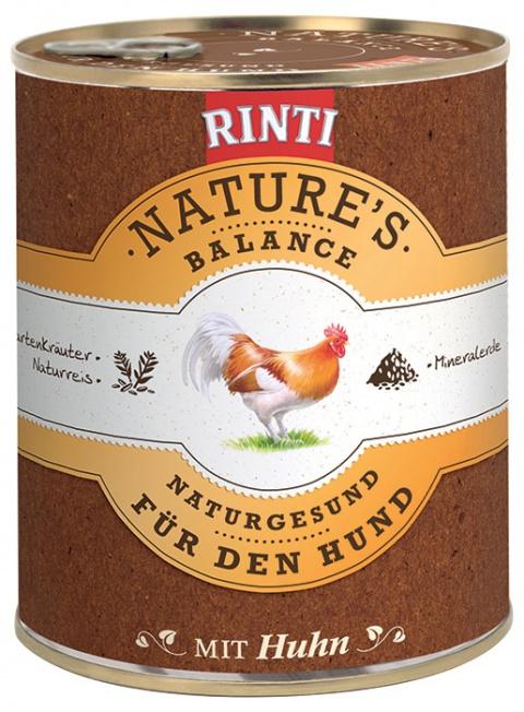 Konzerva RINTI Nature's Balance kuře + hnědá rýže + vejce 800g