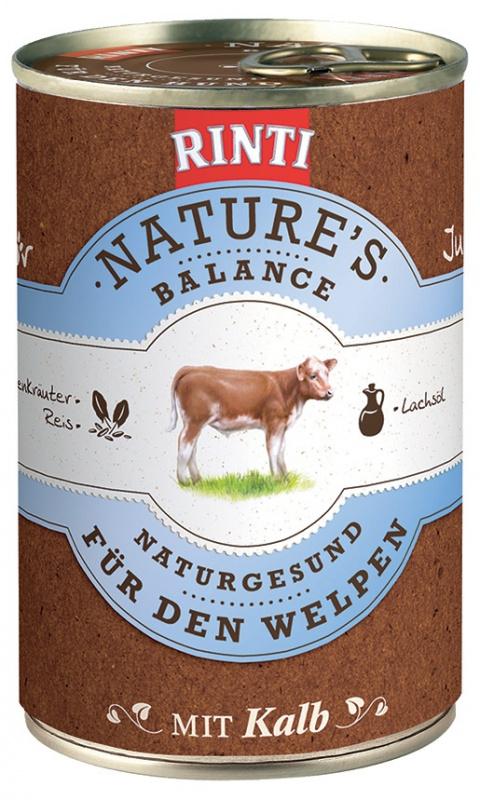 Konzerva RINTI Nature's Balance telecí + těstoviny + vejce 400g