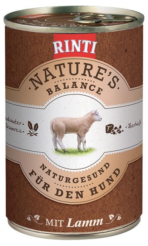 Konzerva RINTI Nature's Balance jehně + hnědá rýže + vejce 400g