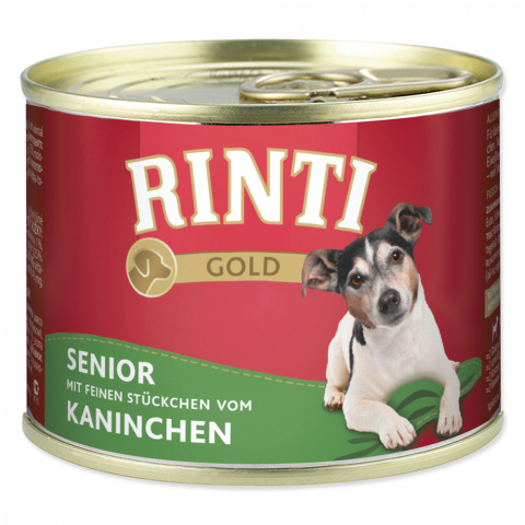 Konzerva RINTI Gold senior králík 185g title=